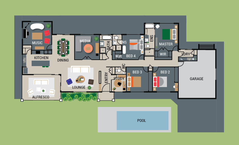 Lottery #437 Floorplan - 21 Hughes Place, Valdora